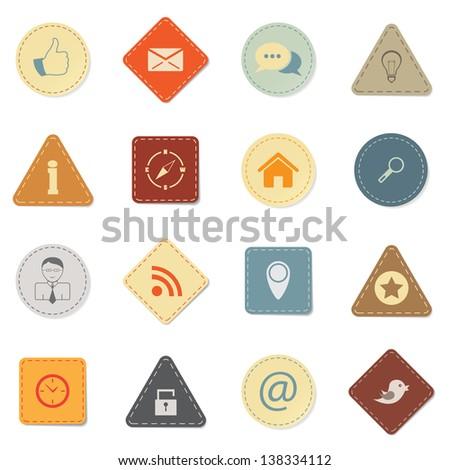 Web icons, retro style - stock vector