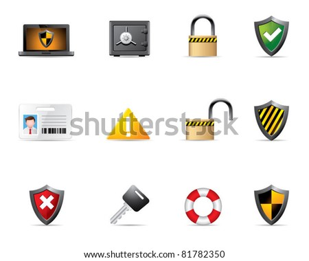 Web Icons - Security - stock vector