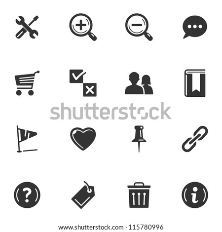 Web icons - Set 2 - stock vector