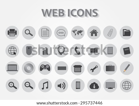 Web icons set.Business and communication icons.Vector illustration. - stock vector