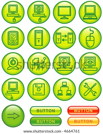 Web Icons Set – Hardware (Vector) You'll find more icons in my portfolio