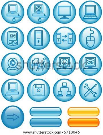 Web Icons Set – Hardware (Vector) You'll find more vector icons in my portfolio