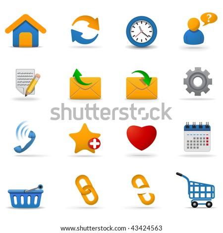 Web icons set | Joy series. Part 1 - stock vector