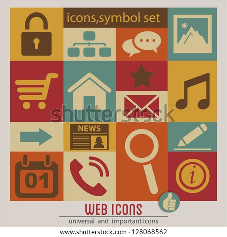 Web icons set.Vector - stock vector