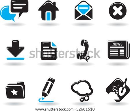 web icons set. vector design - stock vector