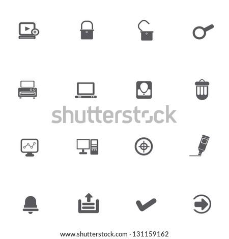 Web icons,vector - stock vector