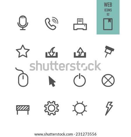 Web icons. Vector illustration. - stock vector