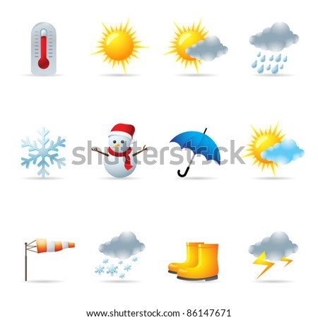 Web Icons - Weather - stock vector