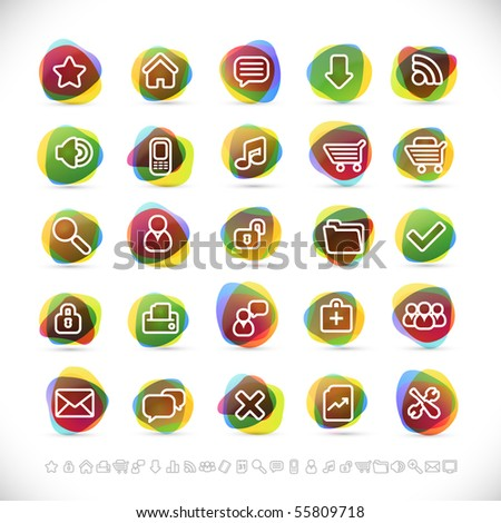 web icons with transparency effects (eps10) - stock vector
