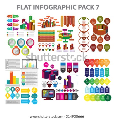 Web Infographic element pack 7. vector