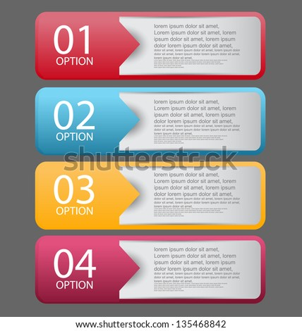 web infographics banner with number options