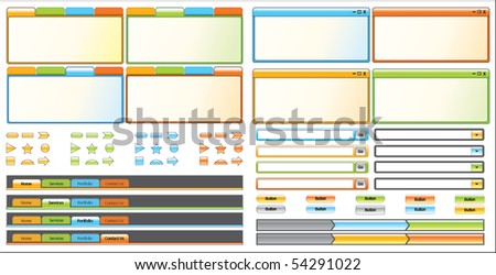Web Interface Elements - stock vector