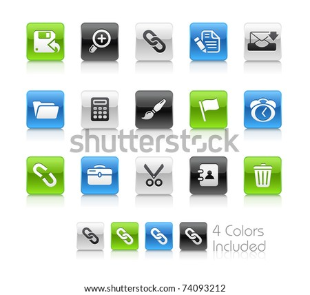 Web Interface Icons // Clean Series -------It includes 4 color versions for each icon in different layers --------- - stock vector