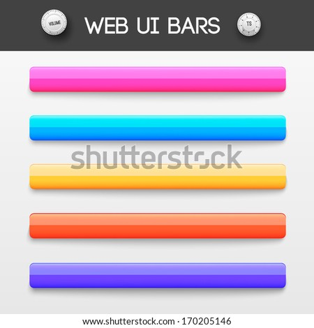 web interface ui elements. Vector illustration - stock vector