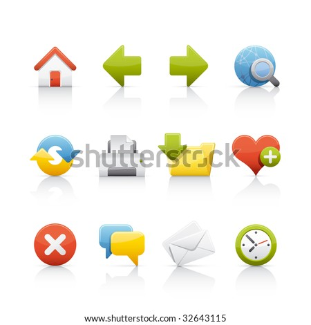 Web & Internet Icon Set for multiple application in Adobe Illustrator EPS 8. - stock vector