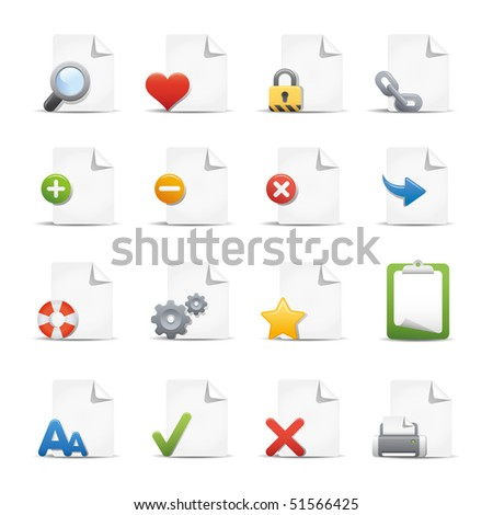 Web & Internet Icons // Pages - stock vector