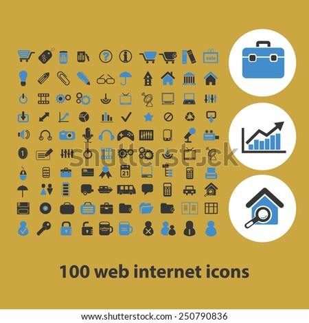 web internet, website, business, infographics flat icons, signs, illustrations design concept vector set - stock vector