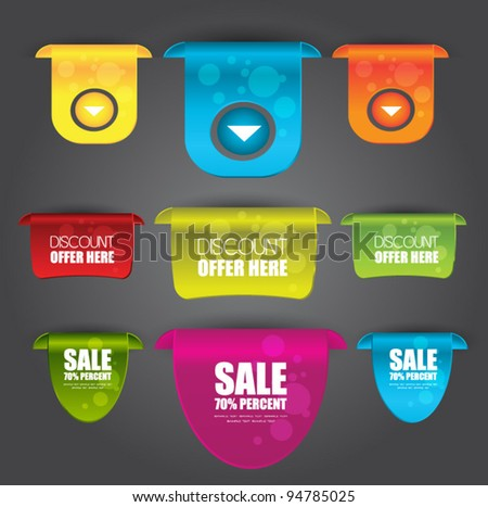 web labels or banners - stock vector