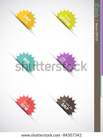 Web labels, Vector EPS10. - stock vector