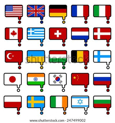 web language icon set  - stock vector