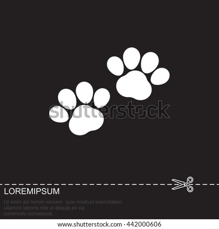 Web line icon. Animal footprint. - stock vector