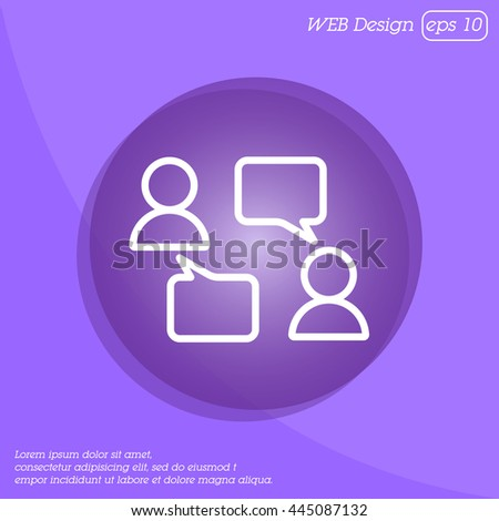 Web line icon. Business; Negotiations, dialog - stock vector