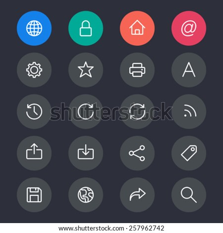 Web line icons - stock vector
