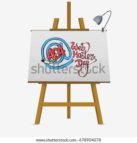 web master day postcard on easel stock vector 678904078 shutterstock