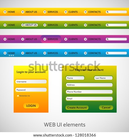 Web menu set