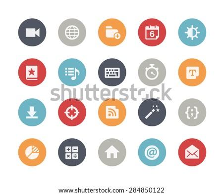 Web & Mobile Icons - 4 // Classics Series - stock vector