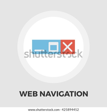 Web navigation icon vector. Flat icon isolated on the white background. Editable EPS file. Vector illustration. - stock vector