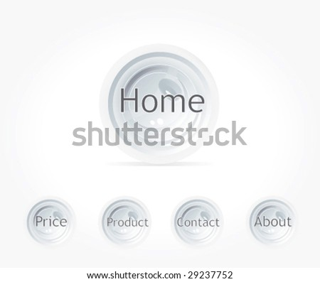 Web navigation template. Vector. - stock vector