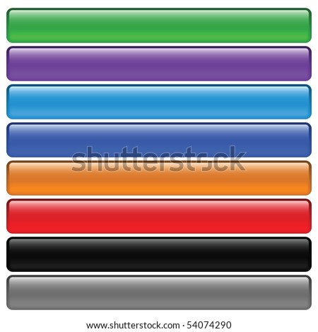 web navigation, web buttons, vector illustration - stock vector