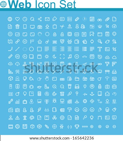 Web page icon set - stock vector