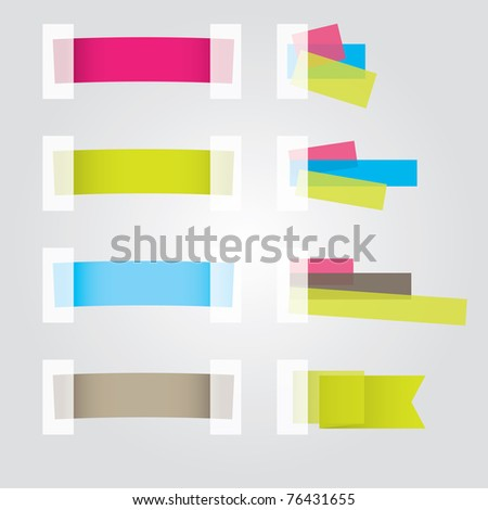 Web page Sticker Designs for you. Vector illustration - stock vector