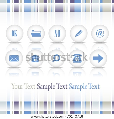 web page with set of vector buttons - stock vector