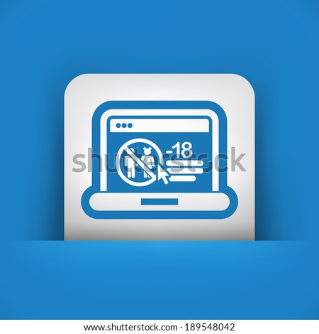 Web parental advisory - stock vector