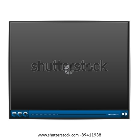 Web Player Vector - stock vector