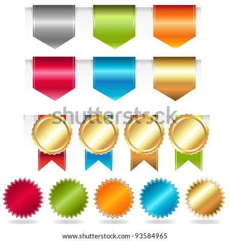 Web Ribbons, Vector Illustration - stock vector