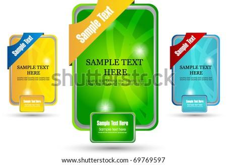 web sale banner - stock vector