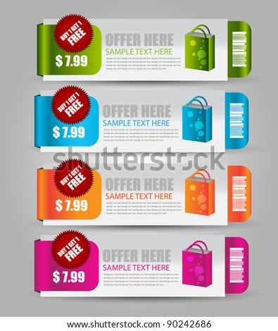 web sale banner - stock vector