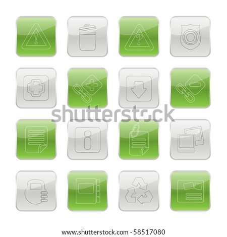 Web site and computer Icons - vector icon set