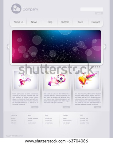Web site design template - stock vector
