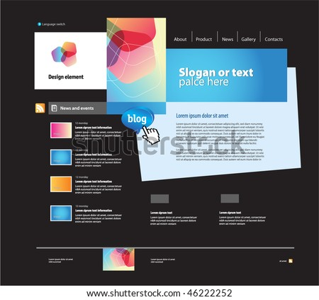 Web site design template , vector