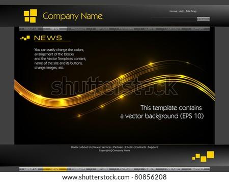 Web Site Design Template (vector) - stock vector