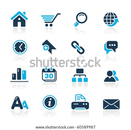 Web Site & Internet Icons // Azure Series - stock vector