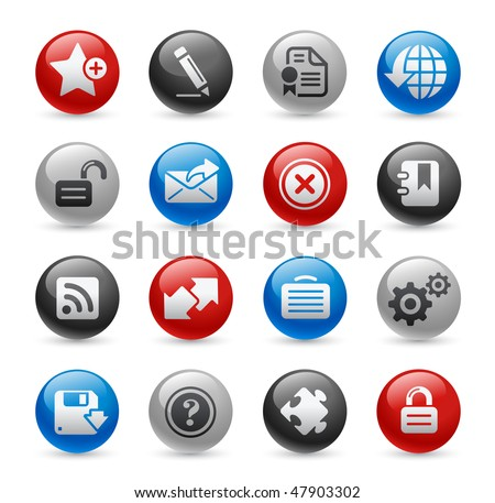 Web Site & Internet Icons // Gel Pro Series - stock vector