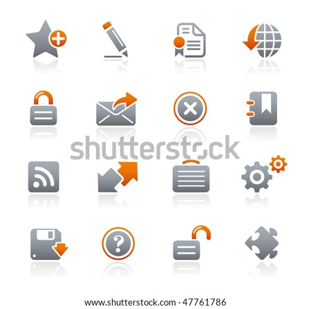 Web Site & Internet Icons// Graphite Series - stock vector