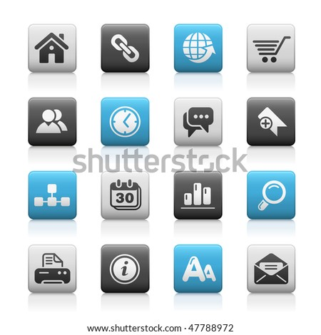 Web Site & Internet Icons // Matte Series - stock vector