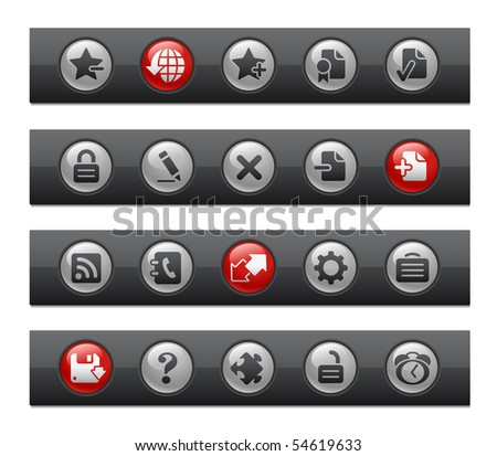 Web Site & Internet Plus // Button Bar Series - stock vector